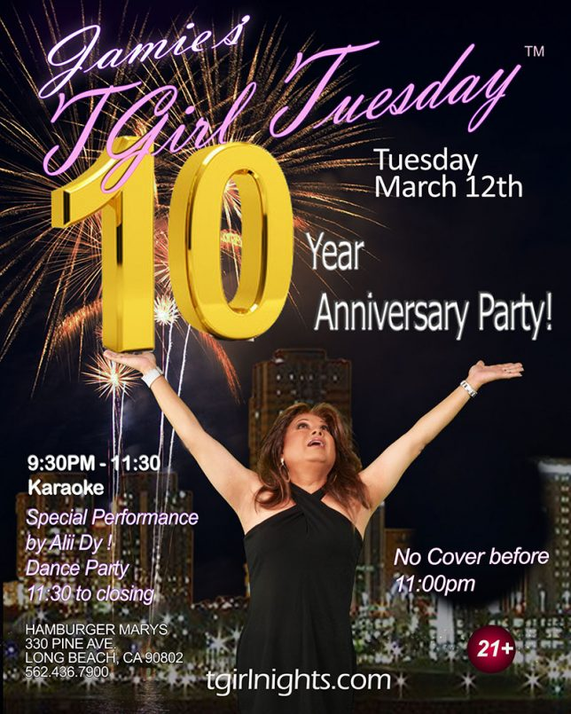 THIS TUESDAY! OUR TEN YEAR ANNIVERSARY PARTY!