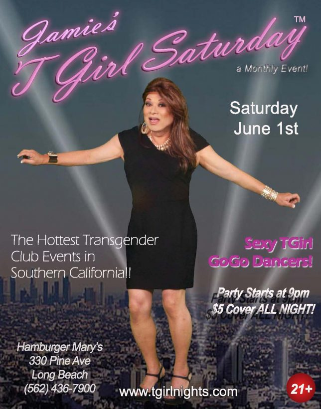 SATURDAY JUNE 1ST JAMIES TGIRL SATURDAY starts the SUMMER!