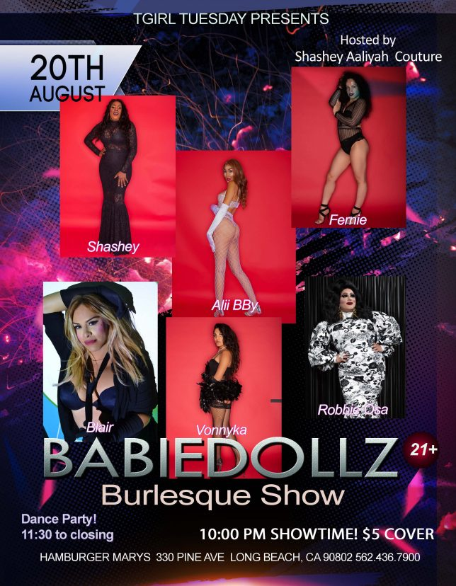 TUESDAY 8/20! THE BABIEDOLLZ SHOW RETURNS!