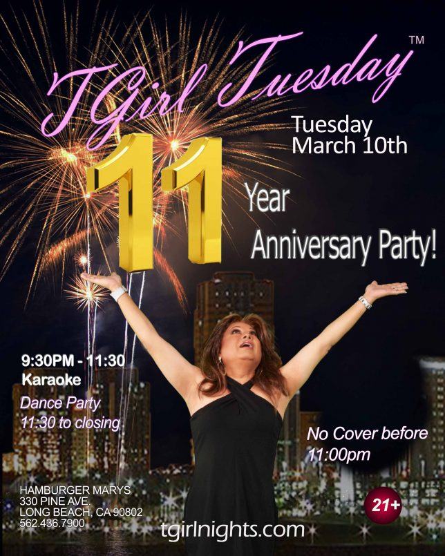 TGIRL TUESDAYS 11 YEAR ANNIVERSARY PARTY!