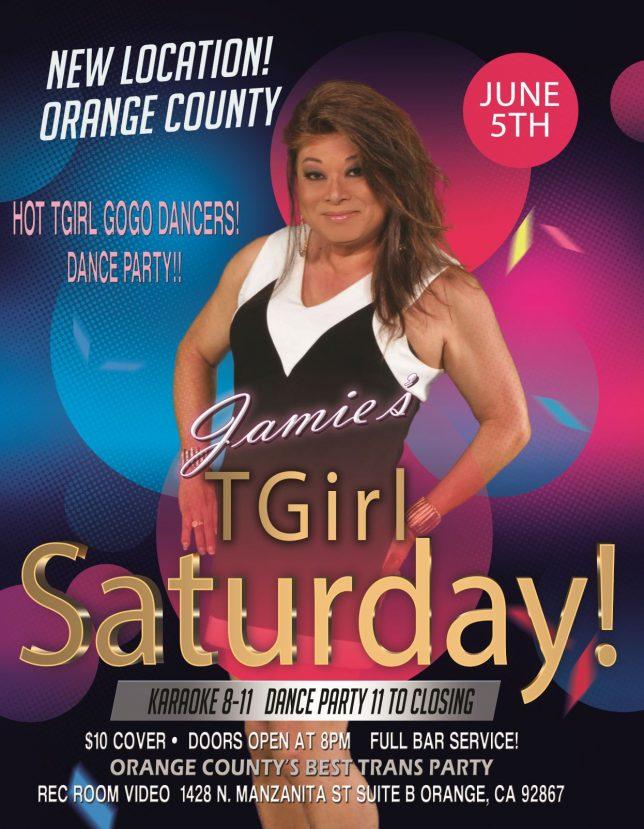 Jamie's TGirl Saturdays In the City of Orange! June 5th